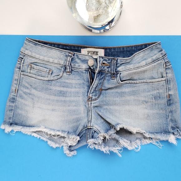 PINK Victoria's Secret Pants - Victoria Secret Size 0 Pink Jean Shorts